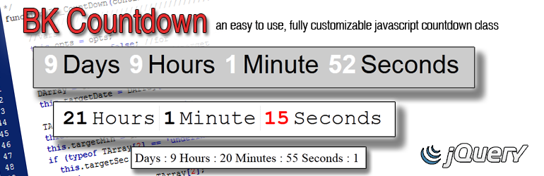 BK Countdown: A robust, fully customizable javascript Countdown